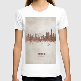 London England Rust Skyline T-shirt