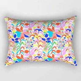 60's Fiesta Floral 2 in White Rectangular Pillow