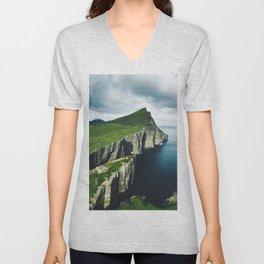 on top of faroe islands Unisex V-Neck