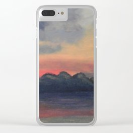 Peaceful Storm Clear iPhone Case