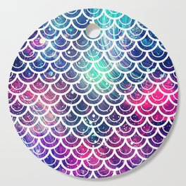 Mermaid Scales Pink Turquoise Blue Cutting Board