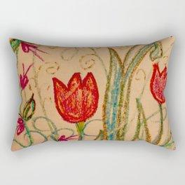 Tulips spring energy Rectangular Pillow