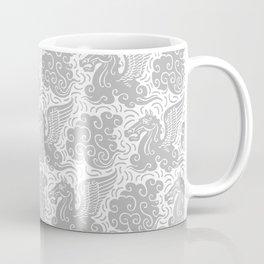Pegasus Pattern Grey Coffee Mug