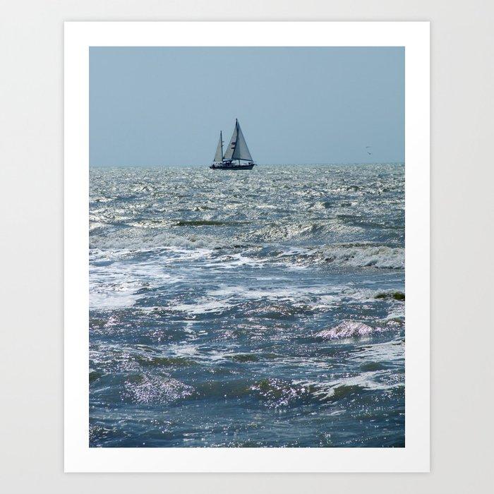 """""""Sanibel  Sail """"  Art Print"""