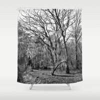 spanish Shower Curtains featuring Spanish Moss by Eric Vogt