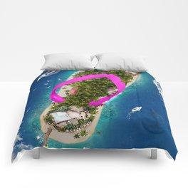 Flip Flop Island Pink Comforters