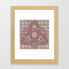 Triquetra knot with heart Framed Art Print