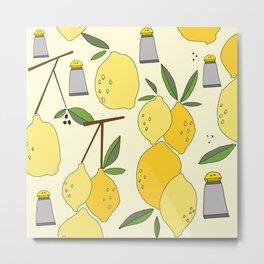 salt and lemon Metal Print
