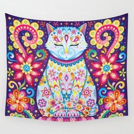 Zen Cat Wall Tapestry