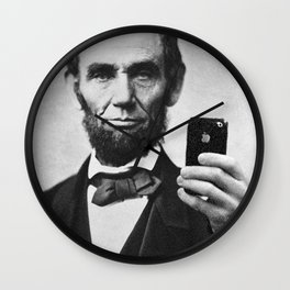 Abraham Lincoln iPhone Selfie Wall Clock