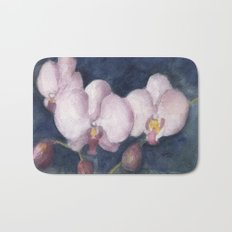 Orchids In the Evening Bath Mat