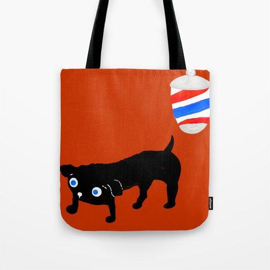 Hairdresser's black dog Tote Bag