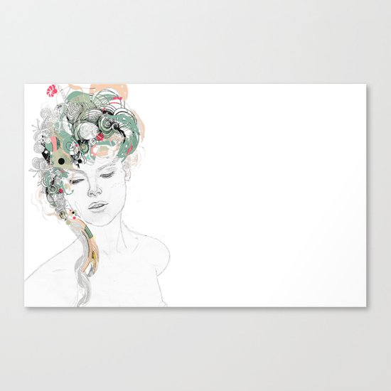 Beauty waiting Canvas Print