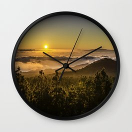 Sunset at 1800m Wall Clock
