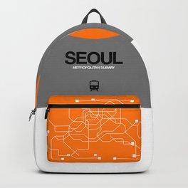 Seoul Orange Subway Map Backpack