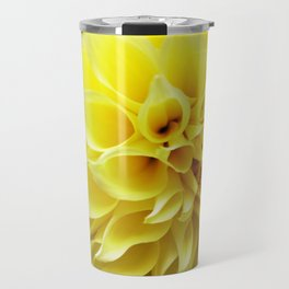 Summer Dahlia in Yellow Travel Mug