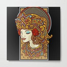 Bali dancer ethnic costume Metal Print