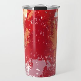 Red Orange Watercolor Travel Mug