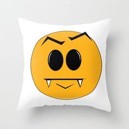 Vampire Smilie Throw Pillow