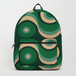70s Optical Wallpaper Backpack