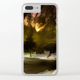 Forrest in december Clear iPhone Case
