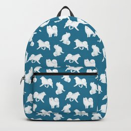 Samoyed Pattern (Blue Background) Backpack