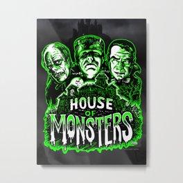 House of Monsters Phantom Frankenstein Dracula classic horror Metal Print