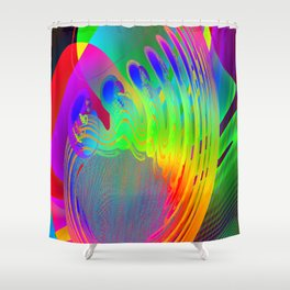 Embryo of coloured fantasy ... Shower Curtain