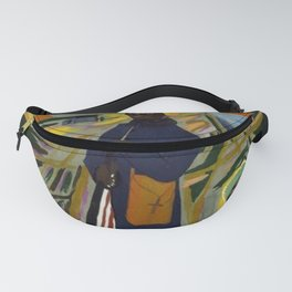 African American Masterpiece 'Experience America Harriet Tubman' by William Johnson Fanny Pack
