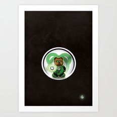 Super Bears - the Green One Art Print