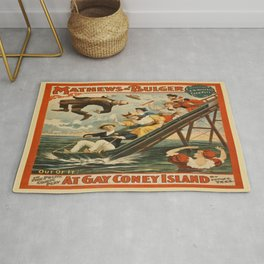 Vintage poster - Coney Island Rug