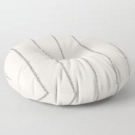 French Cream Linen Stripe Floor Pillow