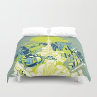 megaman Duvet Covers featuring Smash! Zap!! Zooom!! - Annoying Kidd by Marco Angeles