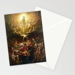 The Triumph Of Christianity Over Paganism Gustave Dore Stationery Cards