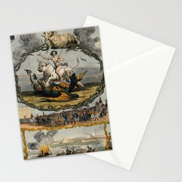 Raphael's Prophetic Almanack: a bull and a dragon (1844) Stationery Cards