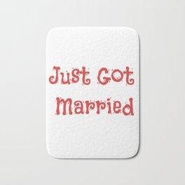 Just Got Married Bath Mat