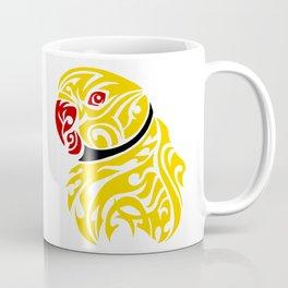 Lutino ringneck parrot tattoo Coffee Mug