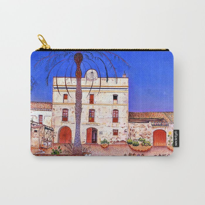 Joan Miro House with Palm Tree Carry-All Pouch