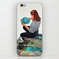 turquoise iPhone & iPod Skins featuring TURQUOISE by Beth Hoeckel