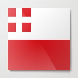 Flag of Utrecht (province) Metal Print