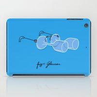 glasses iPad Cases featuring Glasses by micheleficeli