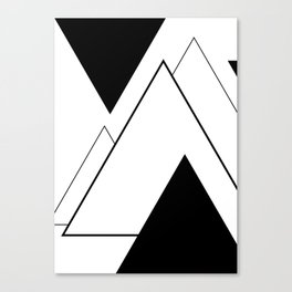 Minimal Mountains Canvas Print