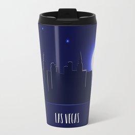 Las Vegas skyline silhouette at night Travel Mug
