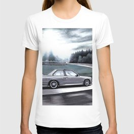 M3 CAR RIDING THROUGH THE FAMOUS NURBURGRING RACE TRACK AT DAY T-shirt