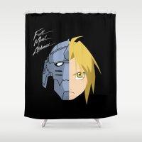 fullmetal alchemist Shower Curtains featuring Fullmetal Alchemist/RAM by 5eth