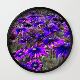 A Rainbow of Daisies Fine Art Poster and Cards Wall Clock
