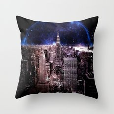 New York City : Parallel Dimension Throw Pillow