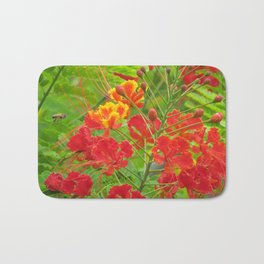 Miniature poinciana flowers Bath Mat