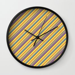 Summer Lights Inclined Stripe Wall Clock
