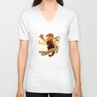 gryffindor V-neck T-shirts featuring Gryffindor by Markusian